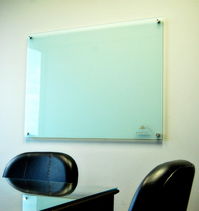Glass Marker Board with Stand-off Mounting