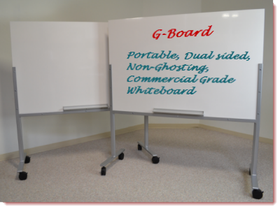 G-Board - Portable Dual Sided White Board