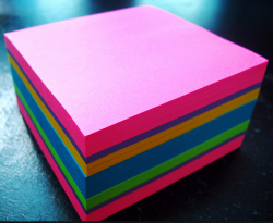 Stock Your Blue Sky Room with Plenty of Multi-Colored Post-it-notes