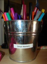 Bucket of Marker Pens