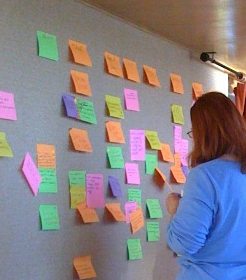 Judge the Success of Your Blue Sky Room Creative Session by the Number of Post-it-notes on the Wall.