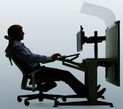 Okamura Cruise Workstation - the future of highly productive, personal space, fatigue reducing work space is here