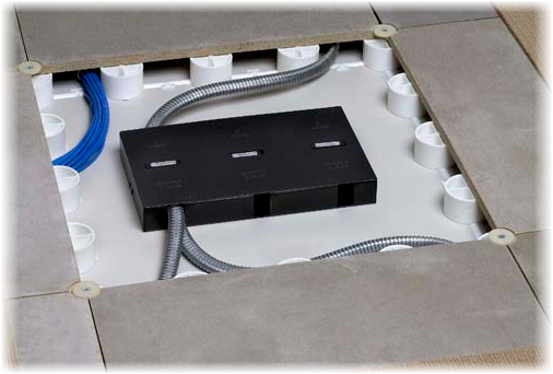 Trendway Raised Flooring Power Module, easy access, easy rewire, get power wherever you need it.