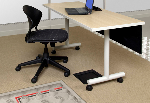 Trendway Raised Flooring gives easy access to power and data, avoiding unsightly ceiling drop down power and data