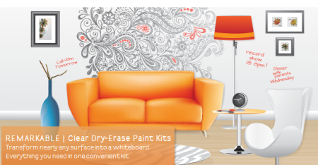 ReMarkable™ Dry Erase Paintable Wall Covering