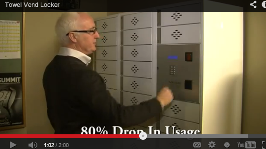 Electronic Towel Vending Lockers - View Video