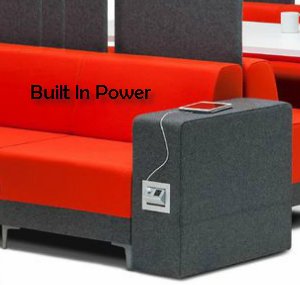 Soft Seating with Easy-to-Access Power and Data