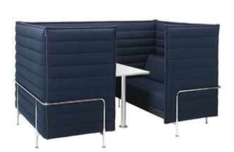 Soft Seating - Configured as a Semi-Private Booth Space