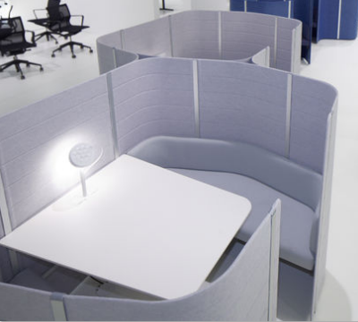 Or Add Screens to Soft Seating Areas to Create Privacy Booths within a Reception or Meeting Area