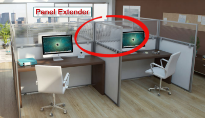 Panel Extenders - Inexpensively add staff privacy