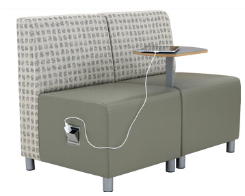 Lounge Chair with Power Outlet and Tablet Arm