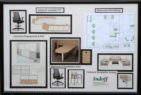Concept Board - Hyundai Showroom Remodel -  Layout, Photos & Finishes