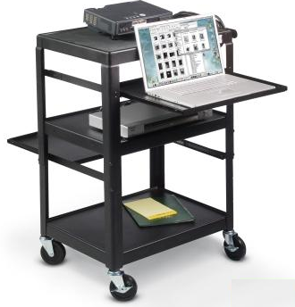 Beau 0019   Movable AV Cart, Movable Computer/Projector Cart