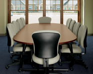 0124 - Racetrack Style Conference Room Table & Chairs