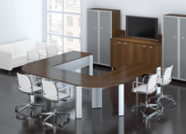 0126 - Collaborative Conference Room Table with Teleconferencing System