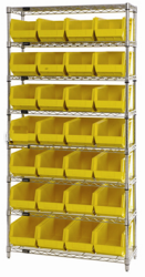 0173 - Wire Shelves with Bins