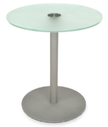 0194 - Outdoor, Glass Top Table with metal base