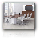 0075 - Conference Room Furniture - Sit / Stand Conference Table