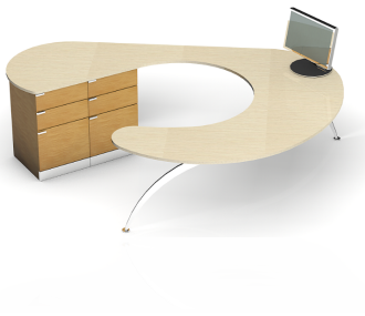 New Concept Wrap-Around Desk Promotes Collaboration while Saving Space